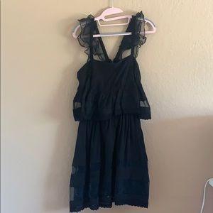 J.o.A black ruffle mini dress